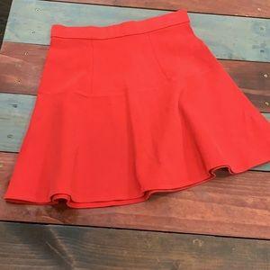 Madewell Red Short Full Skirt Size 2